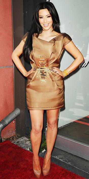 किम Kardashian 2011 Looks - Wesley Nault dress and YSL shoes