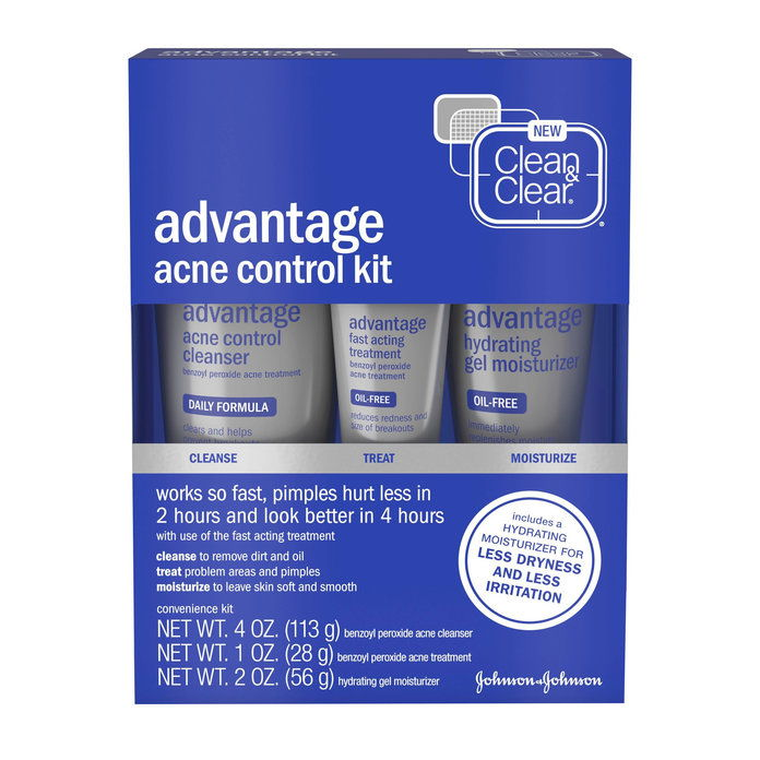สะอาด & Clear Advantage Acne Treatment Control Kit for Clear Skin