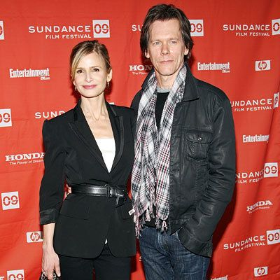 कायरा Sedgwick and Kevin Bacon, Premiere of Taking Chance, Red Carpet Report, 2009 Sundance Film Festival