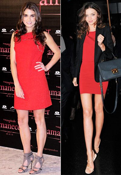लाल Dress - Ashley Greene - Miranda Kerr