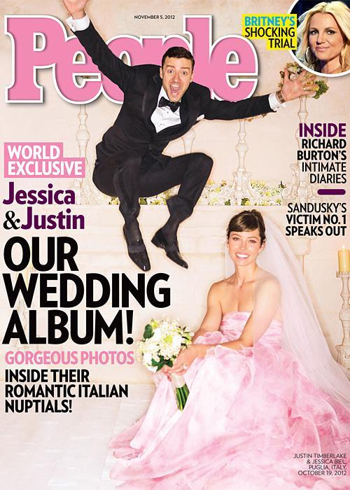 ชื่อเสียง Wedding Photos - Jessica Biel and Justin Timberlake