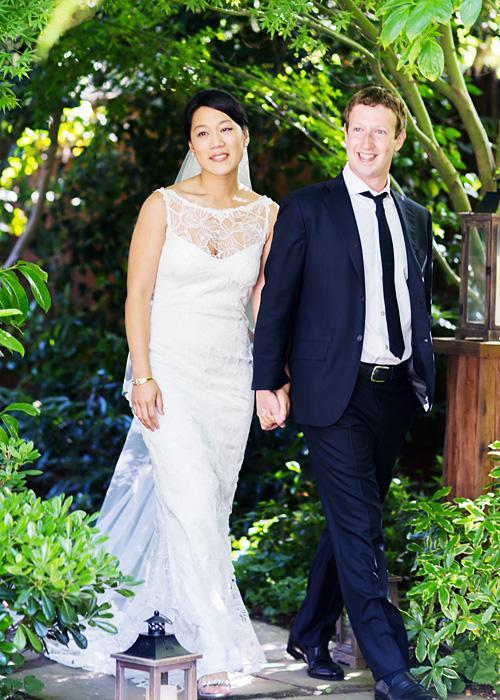 ชื่อเสียง Wedding Photos - Priscilla Chan and Mark Zuckerberg