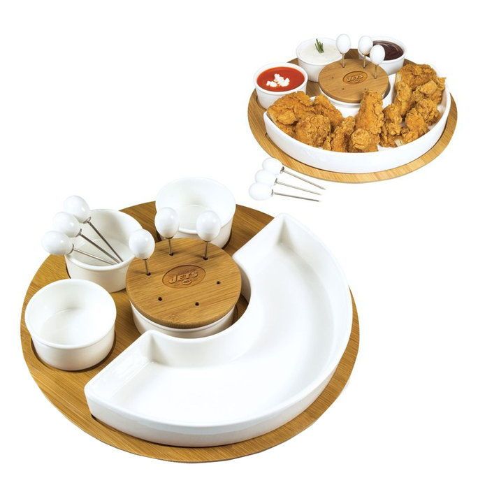 แกะสลัก Appetizer Serving Tray