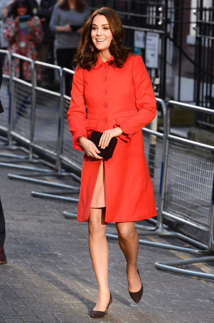 เคท Middleton Red Coat LEAD