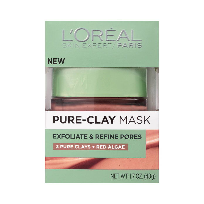 एल'Oreal Paris Exfoliate & Refine Pores Pure Clay Mask