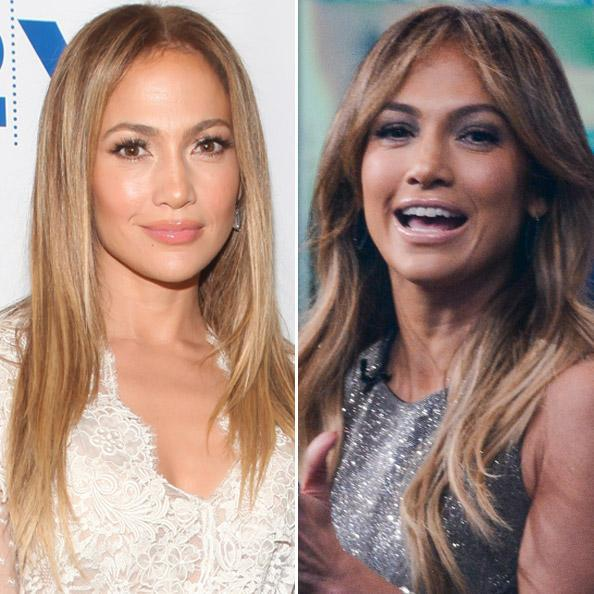 JLO before, after bangs