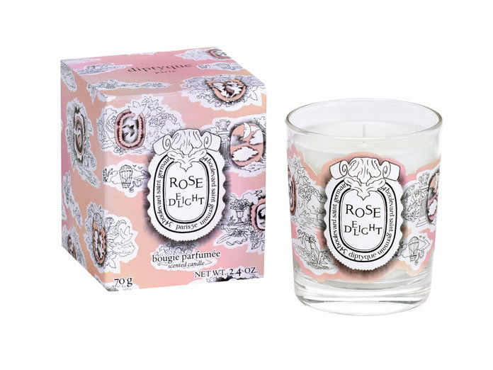 Diptyque Rose-Scented Candle