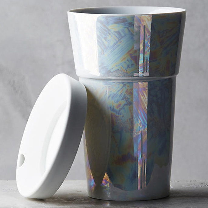 Anthropologie COSMIC LUSTER TRAVEL MUG