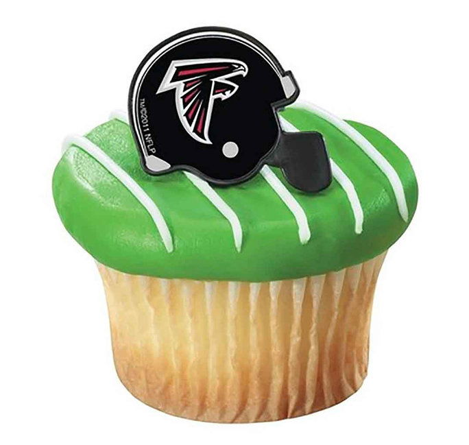 เอ็นเอฟแอ Atlanta Falcons Cupcake Helmet Rings 12 count