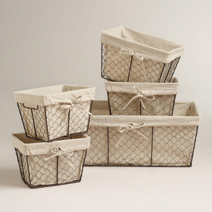 चालट Lined Wire Baskets