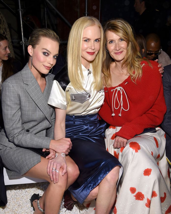 मार्गोट Robbie, Nicole Kidman, and Laura Dern
