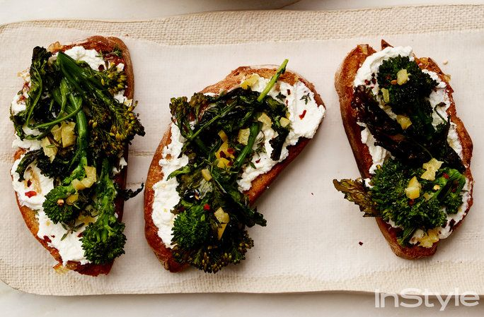 broccolini Ricotta Toasts with Preserved Lemon