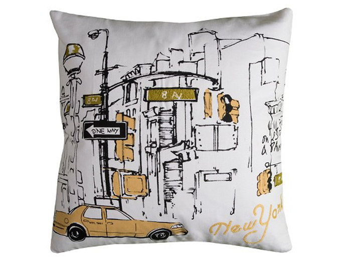 के लिये the City Girl: Rizzy Home New York Taxi Pillow