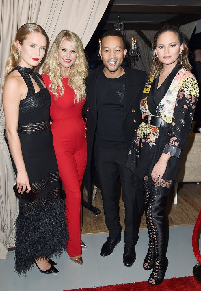 खेल Illustrated Swimsuit Edition Launch Party Lead - Sailor Lee Brinkley-Cook, Christie Brinkley, John Legend, and Chrissy Teigen
