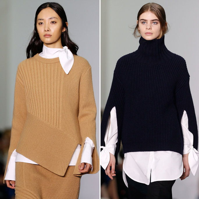 चंकी SWEATER-AND-WHITE SHIRT COMBOS