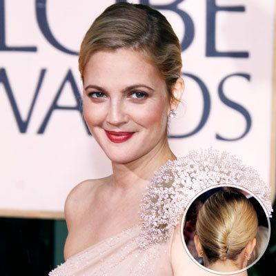 Drew Barrymore-2010 Golden Globes-Giannandrea-hair-updo