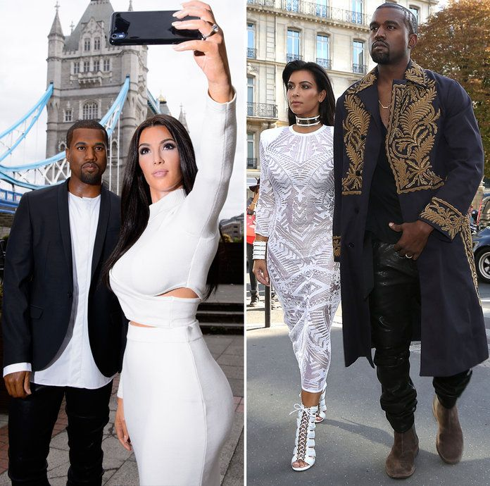 कान्ये West and Kim Kardashian West