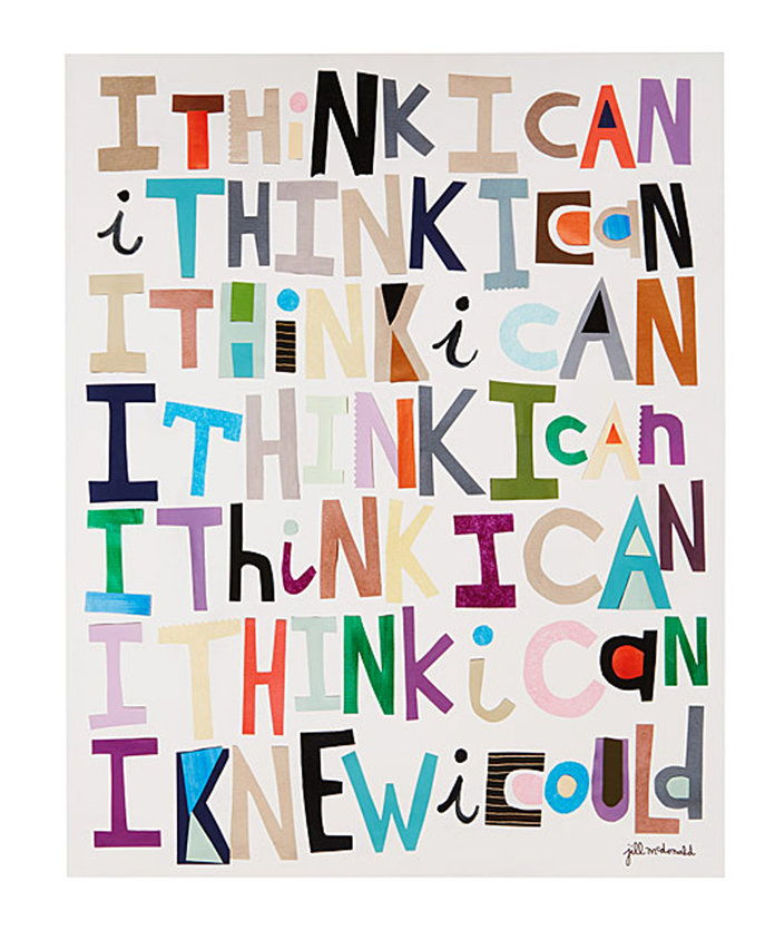 ผม Think I Can Art Print