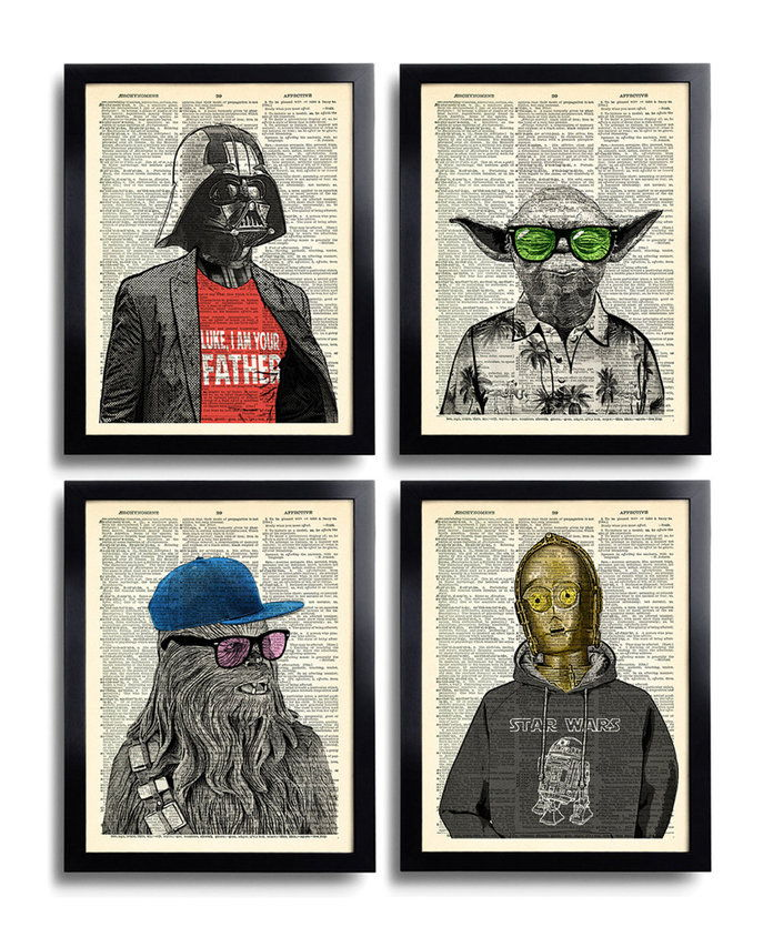 ดาว Wars Art Print Set