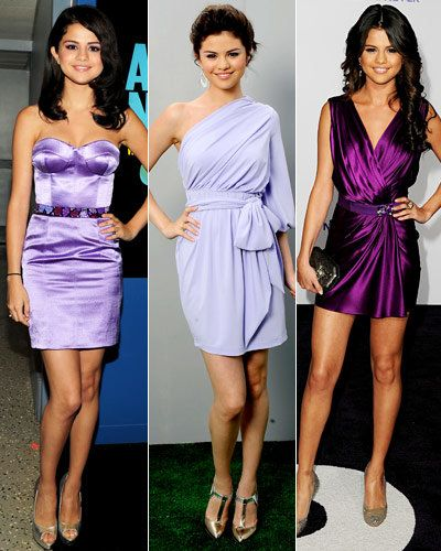 सेलेना Gomez - Stars' Signature Colors - Purple - Christian Cota - Baby Phat - Reem Acra