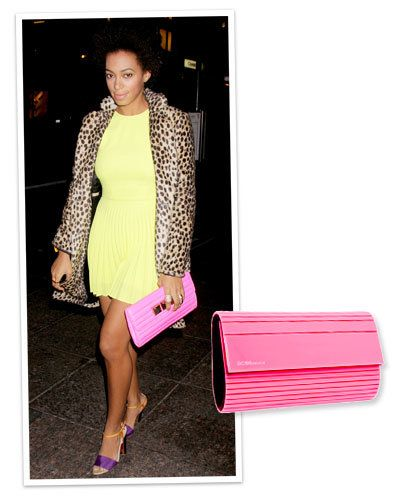 Solange Knowles's Structured Clutch