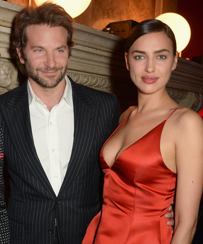 ब्राडली Cooper and Irina Shayk attends the Red Obsession party in Paris to celebrate L'Oreal Paris's partnership with Paris Fashion Week. L'Oreal Paris spokesmodels accessorised with accents of red to celebrate the launch of the new Color Riche La Palette