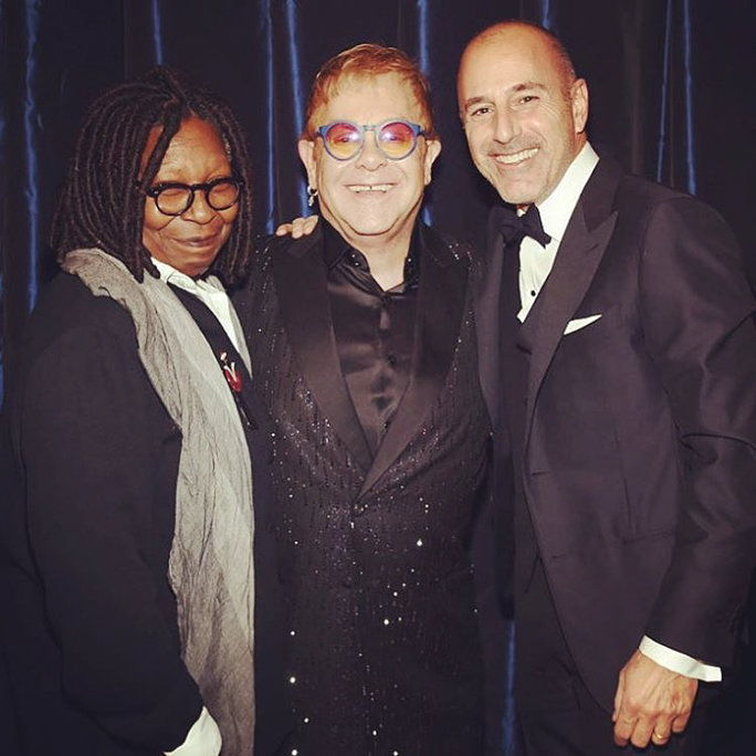 व्हूपी Goldberg, Elton John, and Matt Lauer