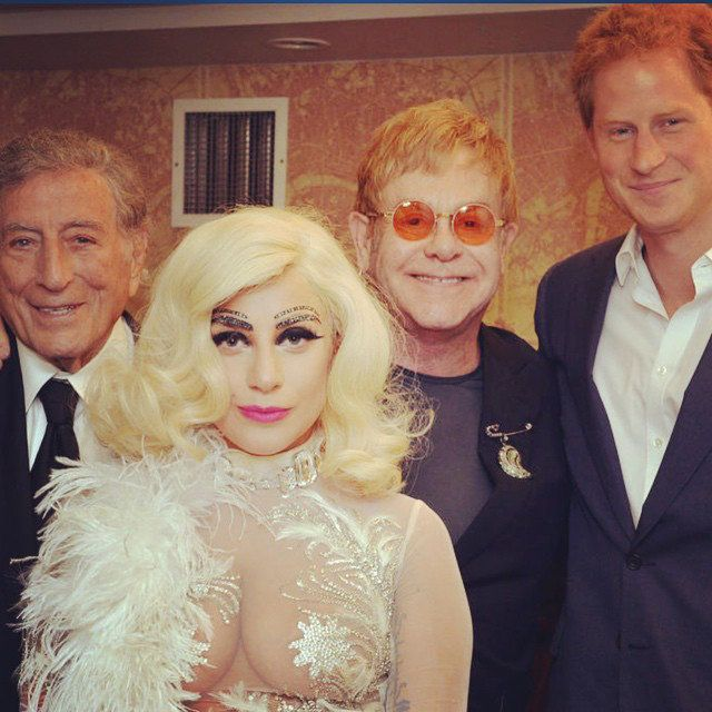 एल्टन John with Tony Bennett, Lady Gaga, and Prince Harry