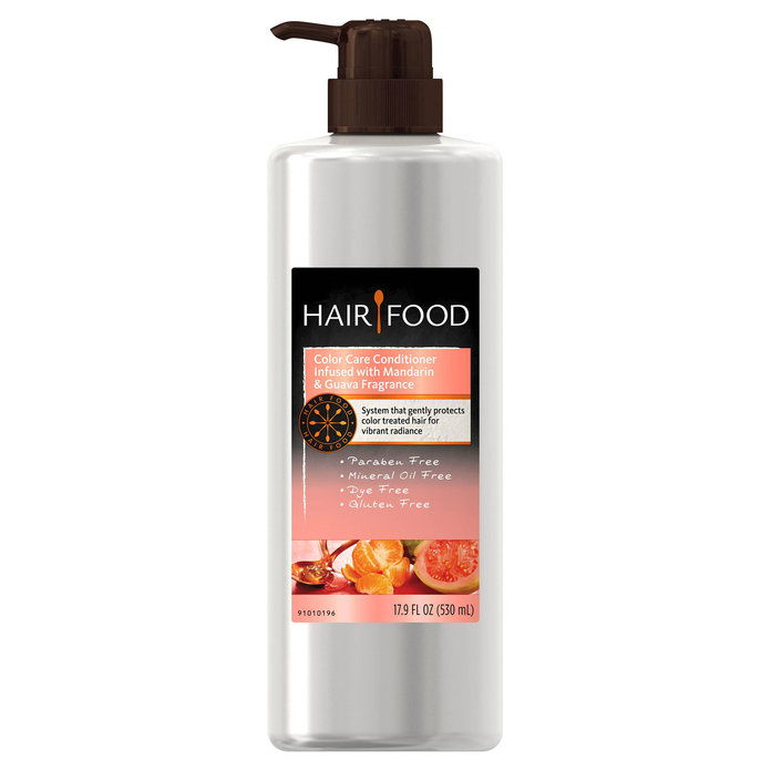 बाल Food Color Care Conditioner Infused With Mandarin & Guava Fragrance