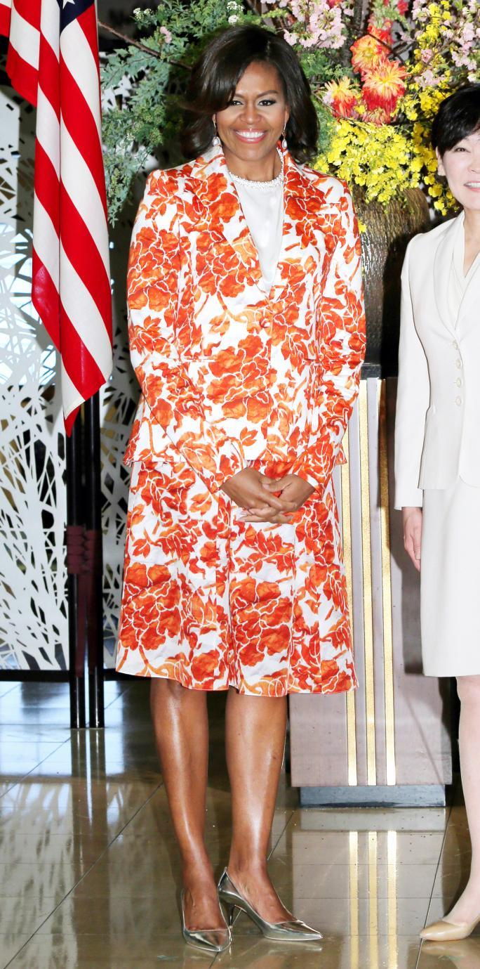 अमेरिका First Lady Michelle Obama Visits Japan - Day 2