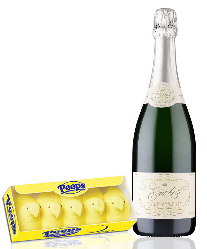peeps with a Prosecco-Style Wine