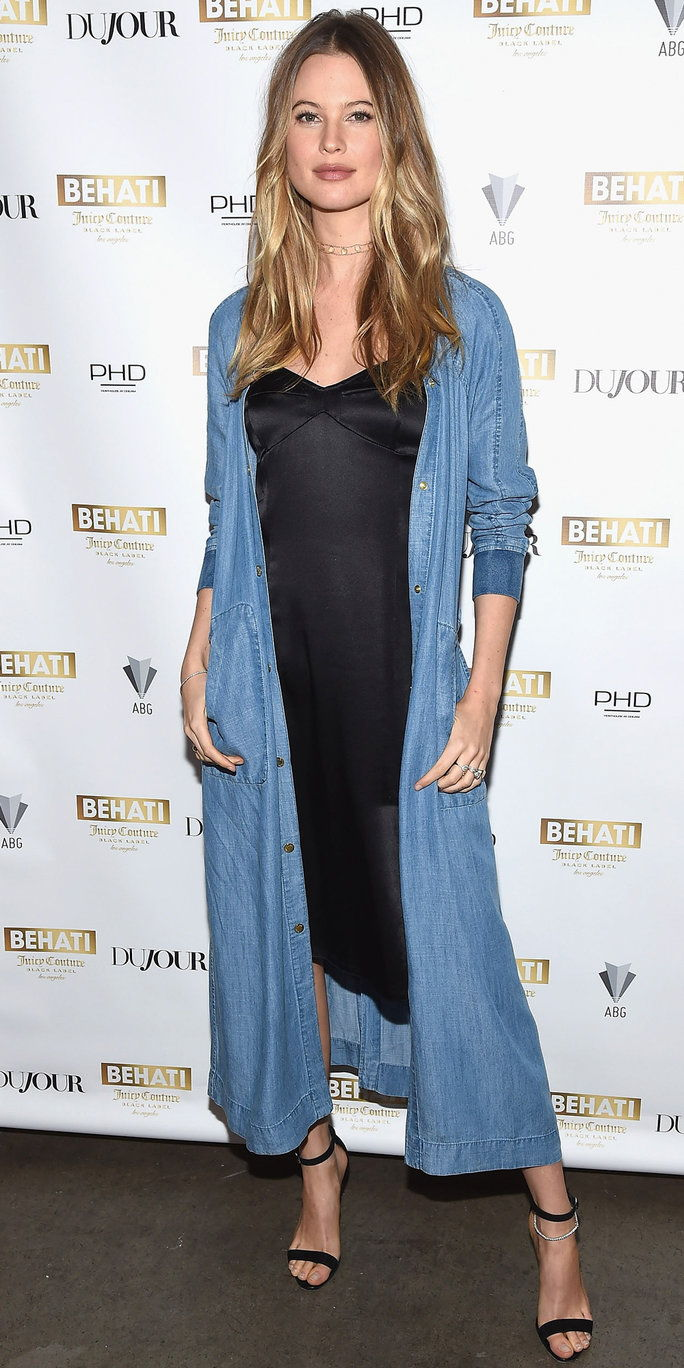 आदर्श and designer Behati Prinsloo attends Behati Juicy Couture Black Label Launch at PH-D Rooftop Lounge at Dream Downtown on March 23, 2016 in New York City.