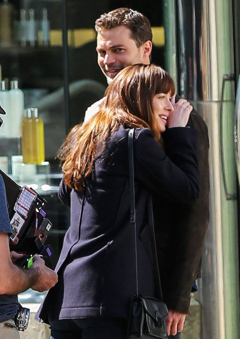 डकोटा Johnson and Jamie Dornan - 'Fifty Shades Darker' in Vancouver, Canada - 04/04/2016