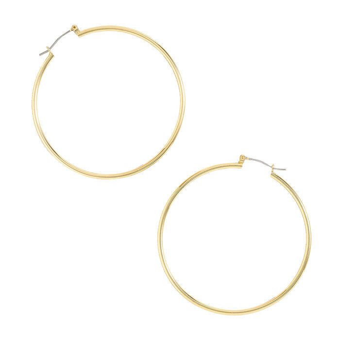 जे Crew Antique-Gold Hoop Earrings
