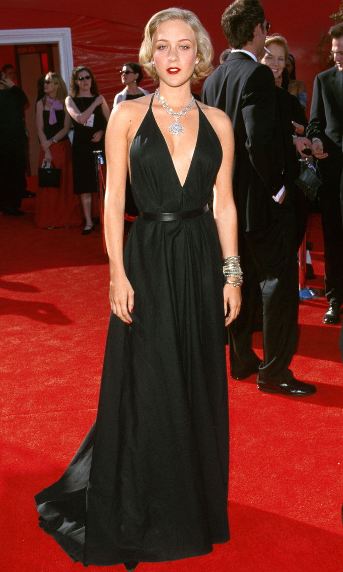 में Yves Saint Laurent Rive Gauche at the Academy Awards in L.A., 2000