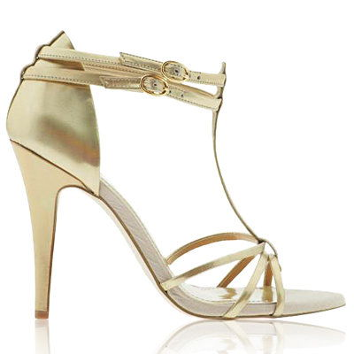 shimmery Gold Sandals