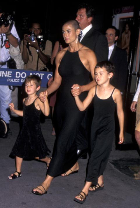 Demi Moore, Rumor Willis and Scout Willis