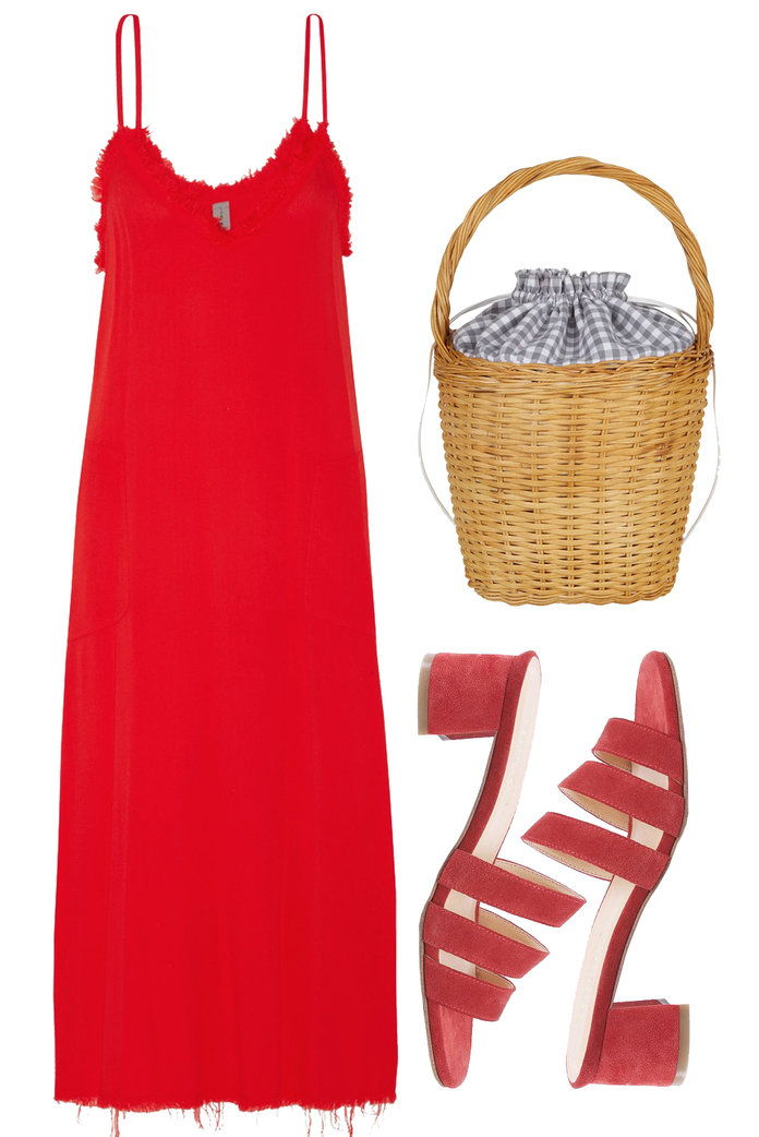 ए fiery red slip dress can be easily packed