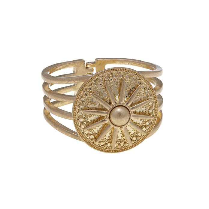 आरजे Graziano Medallion Hinged Bangle