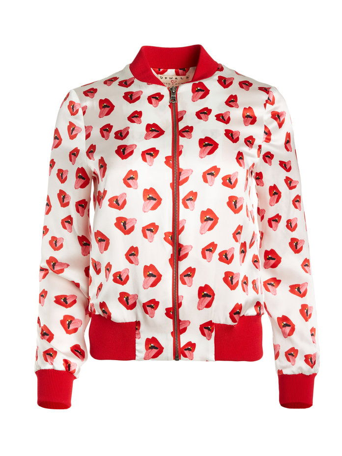 ए ओ x Donald Lonnie Printed Bomber Jacket
