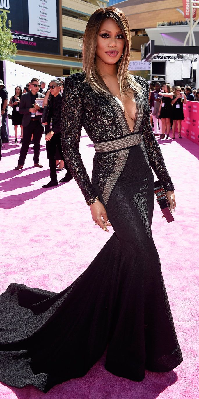 अभिनेत्री Laverne Cox attends the 2016 Billboard Music Awards at T-Mobile Arena on May 22, 2016 in Las Vegas, Nevada.