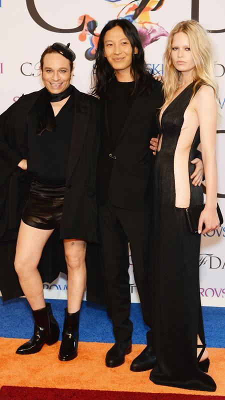 क्रिस Kattan, Alexander Wang and Anna Ewers attend the 2014 CFDA fashion awards