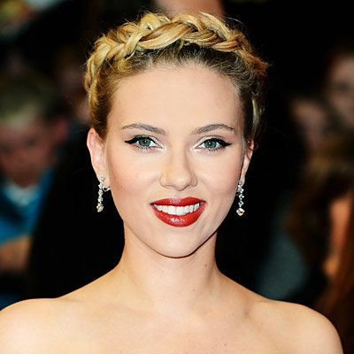 สการ์เล็ต Johansson - Braided Up-Do - Summer Entertaining