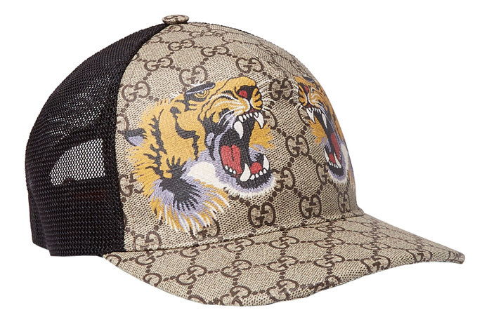 กุชชี่ Supreme Printed Coated Canvas And Mesh Baseball Cap