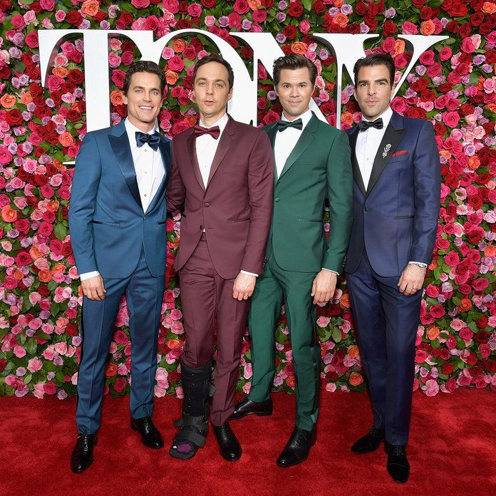 मैट Bomer, Jim Parsons, Andrew Rannells and Zachary Quinto