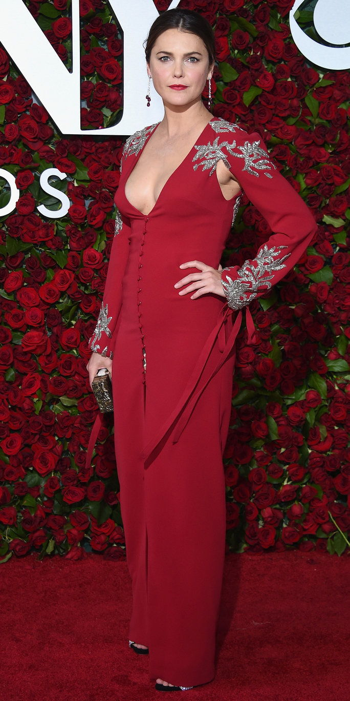 केरी Russell attends the 70th Annual Tony Awards at The Beacon Theatre on June 12, 2016 in New York City.
