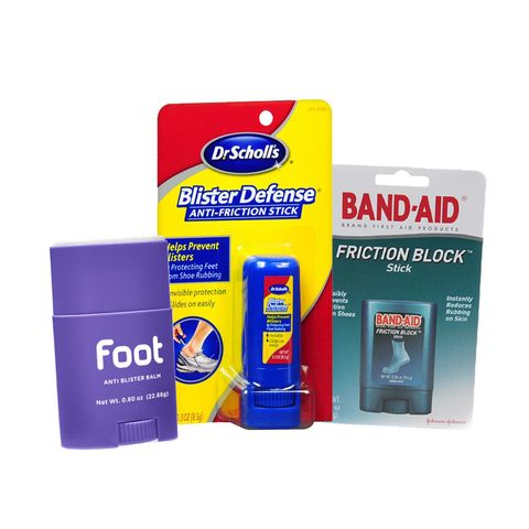 เท้า Anti Blister Balm, Dr Scholl's Blister Defense Anti-Friction Stick, Band-Aid Friction Block Stick