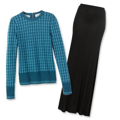 अनुदारपंथी Burch sweater and Topshop skirt
