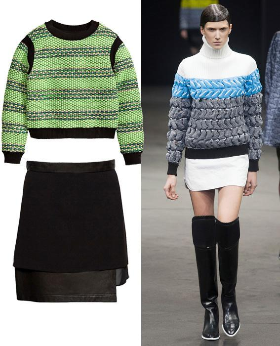 กระโปรง sweater combos: Alexander Wang