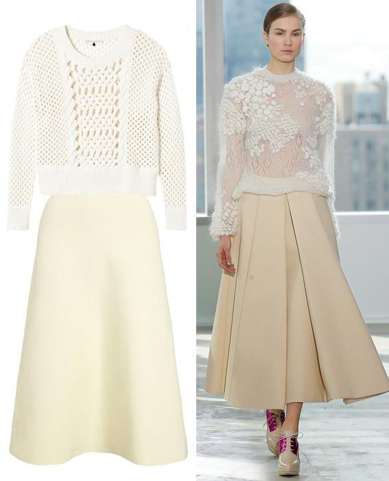 กระโปรง sweater combos: Delpozo